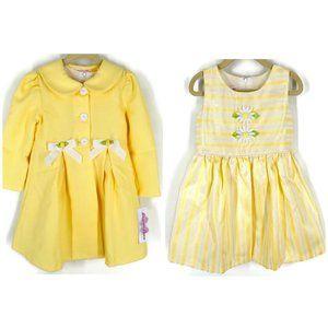 NWT Bonnie Jean 2 Piece Coat & Dress Set Size 4T